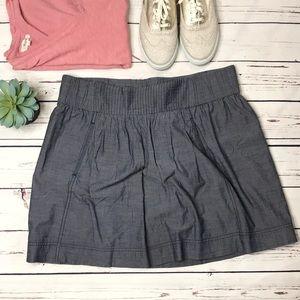 {J. Crew} sz L chambray skirt